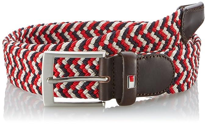 8bfa28fdf Tommy Hilfiger Men's's ADAN Belt, Multicoloured-Mehrfarbig (Rio RED-PT/Multi