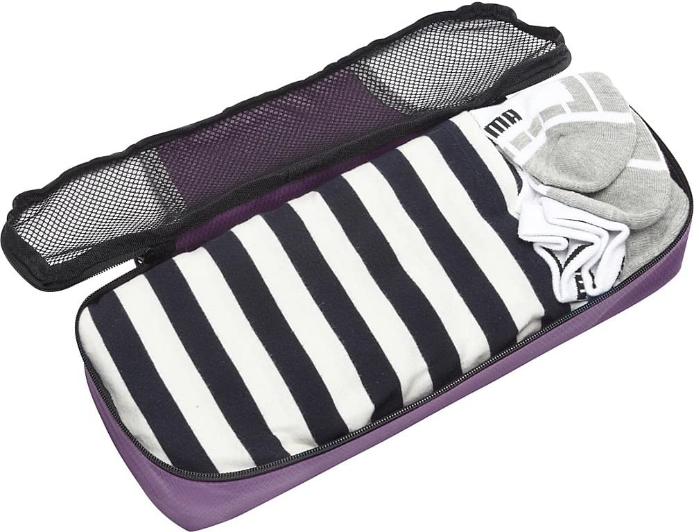 eBags Slim Classic Packing Cubes for Travel Black Organizers 3pc Set -