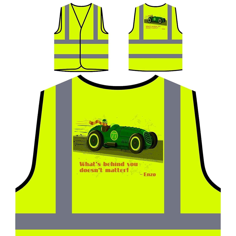 Cartel de coche de carreras vintage Chaqueta de seguridad ...