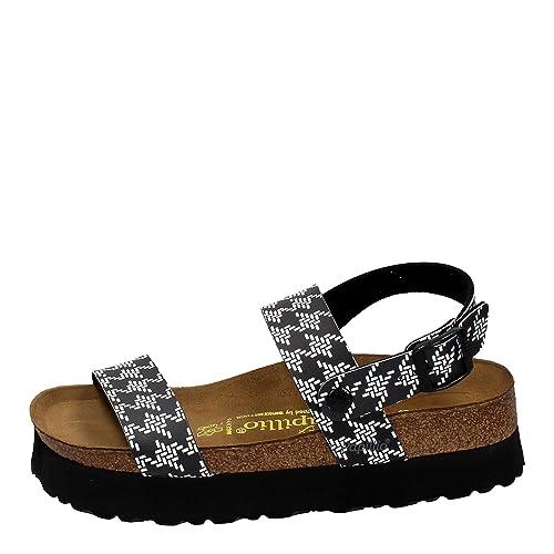 2af543cbff8 Birkenstock - Cameron Platform Sandals in Black White
