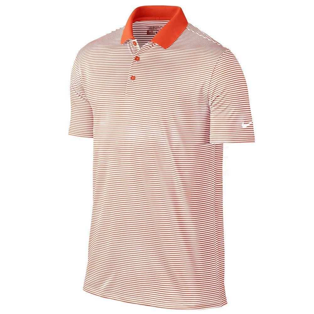 ナイキ ゴルフ DRI-FIT ヴィクトリー ミニ ストライプ 半袖ポロシャツ B003ERJQBA 3L|Team Orange/White Team Orange/White 3L