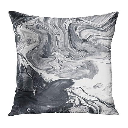 Amazoncom Tomkeys Throw Pillow Cover Gray Aquatic Black And White
