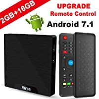 TV Box Android 7.1 - VIDEN W2 Smart TV Box [2018 Ultima Generazione] Amlogic S905W Quad-Core, 2GB RAM & 16GB ROM, Video 4K UHD H.265, 2 Porte USB, HDMI, WiFi Web TV Box, +Air Telecomando Mini Tastiera