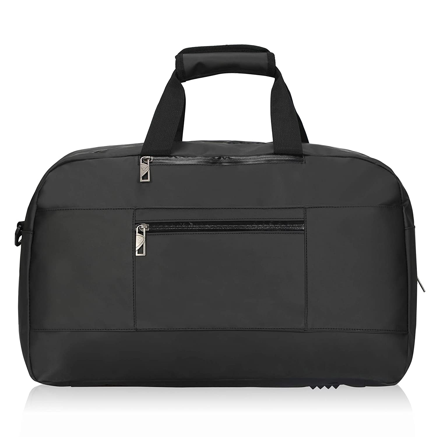 c7aed2860 Hynes Eagle Waterproof Weekend Travel Duffel Bag Flight Approved Carry On  Luggage Tote 36 litres Black: Amazon.co.uk: Luggage