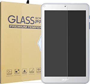 """Iconia One 8 B1-870 Tempered Glass Screen Protector,LiuShan HD Clear Scratch-Resistant 9H Hardness Film for 8"""" Acer Iconia One 8 B1-870 Tablet."""