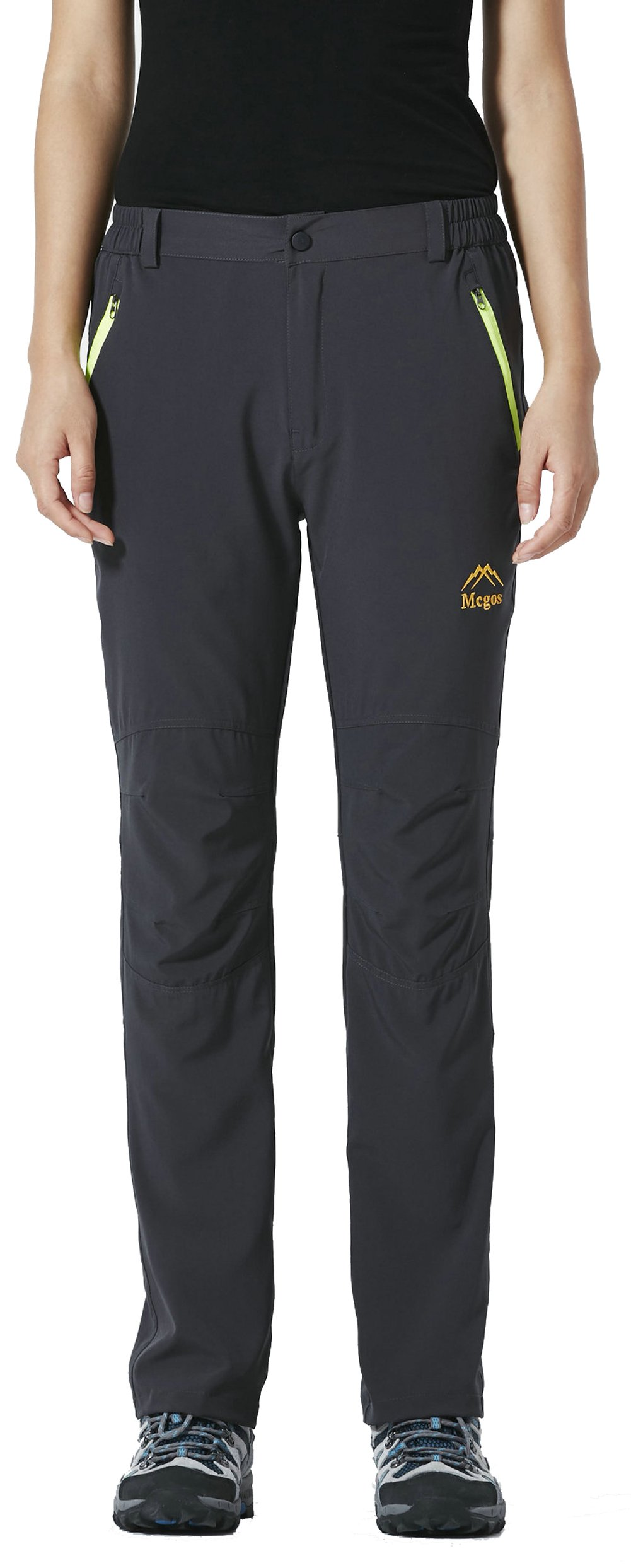 LancerPac Quick Dry Lightweight Women's Breathable Hiking Pants Outdoor Gray M