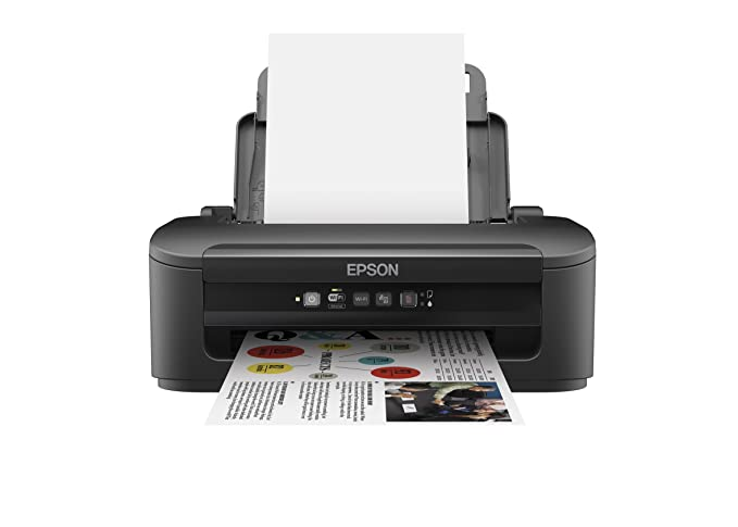 Epson Workforce WF-2010W - Impresora Color (inyección de Tinta, WiFi y Ethernet), Color Negro