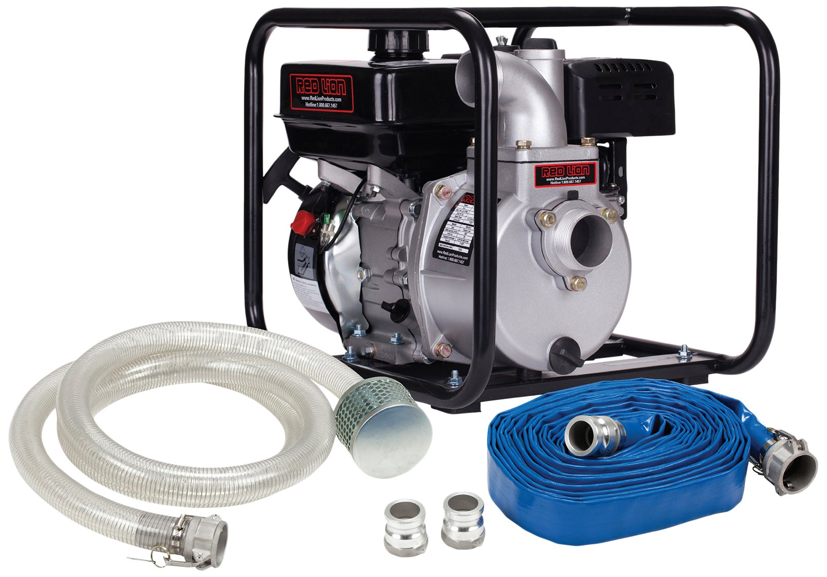Red Lion 5RLAG- 2LKIT Aluminum Water Transfer Pump Kit, 150 GPM, 3.8-Quart Tank