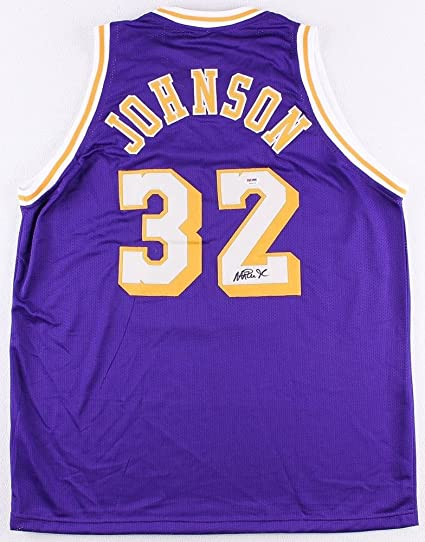 6ddd74ef800 Magic Johnson Signed Lakers Jersey (JSA COA) 5x NBA Champ 3x MVP at ...