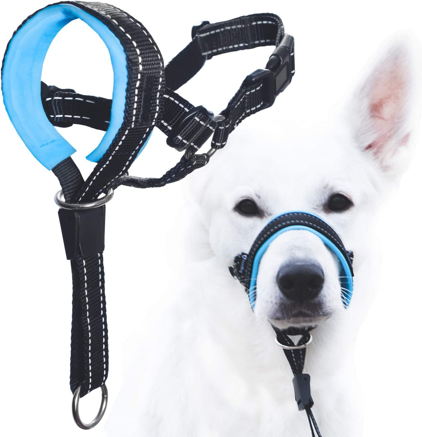 Adjustable Dog Head Harness Fabric Padded Head Collar for Dogs to Prevent Pulling wintchuk Dog Head Collar