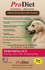 ProDiet Performance Natural Holistic Health Food for Growing, Active, Show and Sporting Dogs