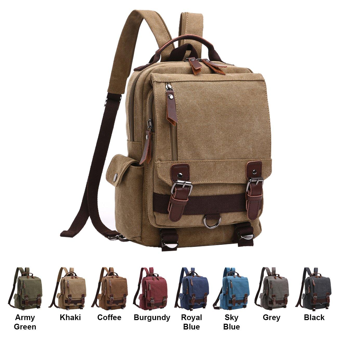 f6ee81829d56 Queenie - Unisex Canvas Cross Body Messenger Bag Sling Bag Backpack  Shoulder Bag Travel Rucksack For Men ...