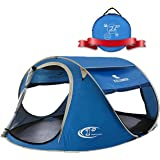 ZOMAKE Pop Up Tent 4 Person, Beach Tent Sun Shelter for Baby with UV Protection - Automatic and Instant Setup Tent for Family