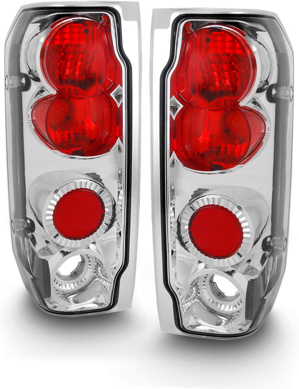 For Ford F150 F250 Bronco I Pickup Truck Black Bezel Rear Tail Lights Brake Driver//Passenger Lamps