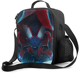 Reusable Lunch Bags Spi-der-man Insulated Lunch Bag, Durable Suitable Men/Women Tote Bags with Drinks Holder, Lightweight Food Warming Tote for Camping
