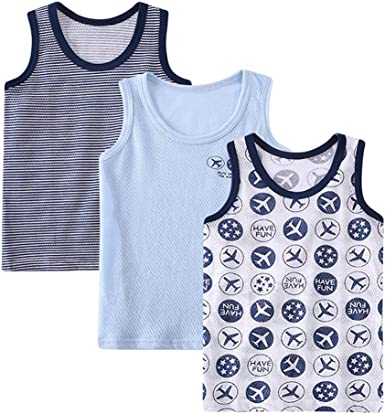 Lazzon Camiseta de Tirantes para Niños niñas Algodón Tops Camisetas Interiores sin Mangas Infantiles