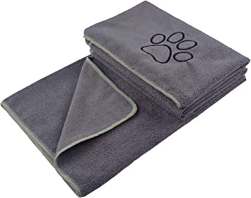 KinHwa Dog Towel Super Absorbent Pet Bath Towel