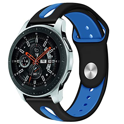 Galaxy Watch 46mm Bands, Gear S3 Bands, 22mm Universal Soft Silicone Replacement Strap Watch Band Compatible for Samsung Gear S3 Frontier/Classic ...