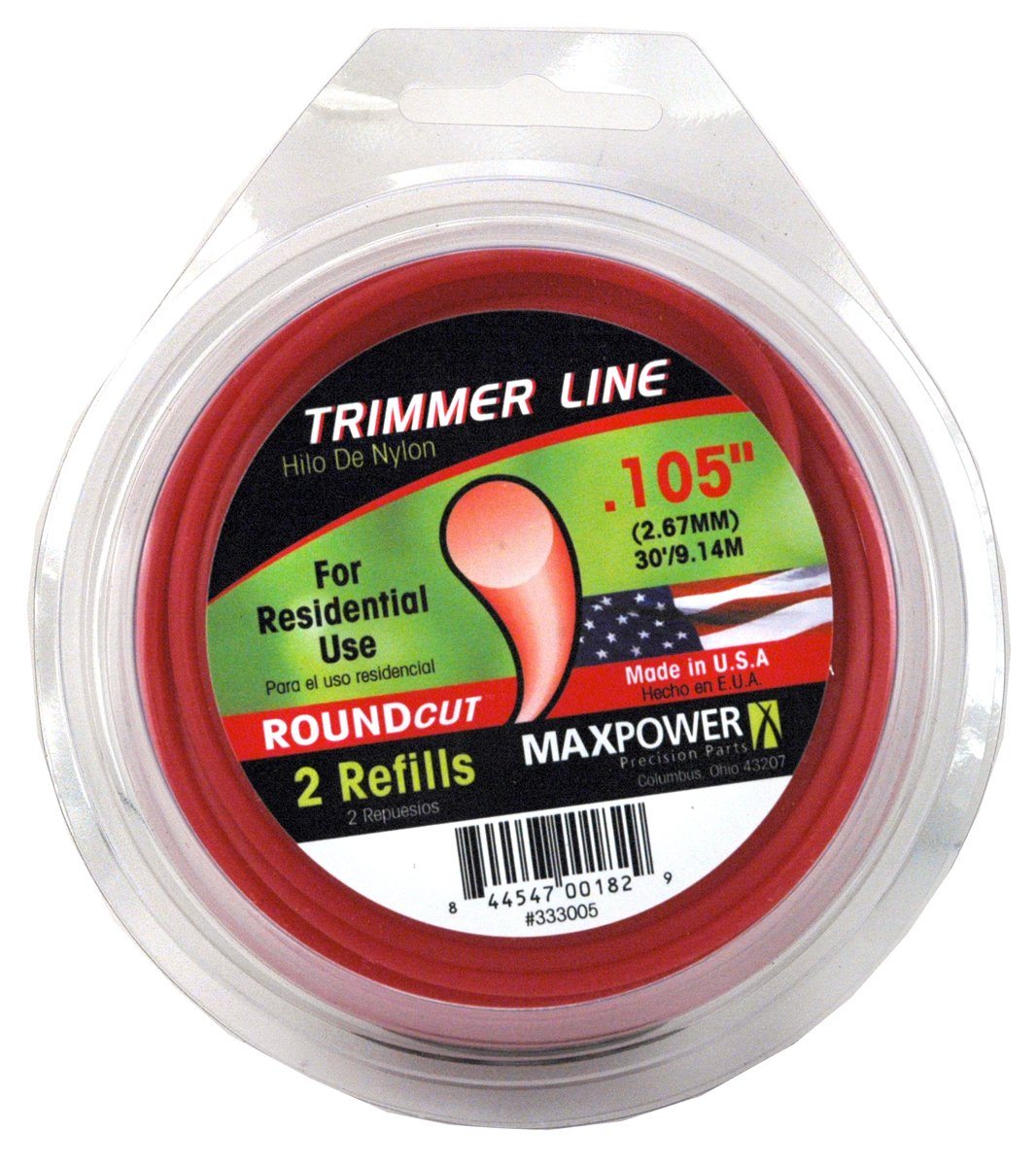Maxpower 333005 Residential Grade Round .105-Inch Trimmer Line 30-Foot Length by MaxPower (Image #1)