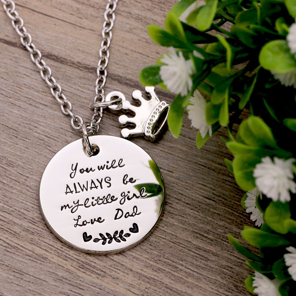Melix Home Gift For Daughter Necklace From Mom Dad Youll Always Be