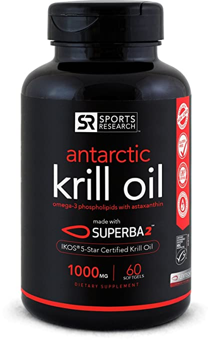 Product thumbnail for Sports Research Antarctic Krill Oil