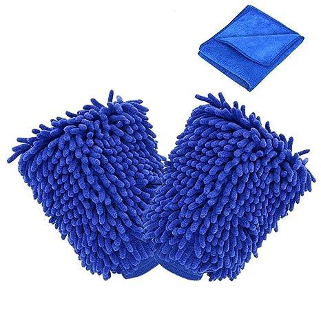 Manoplas de microfibra para limpieza de coche; guantes de toalla ultrasuave de alta calidad -