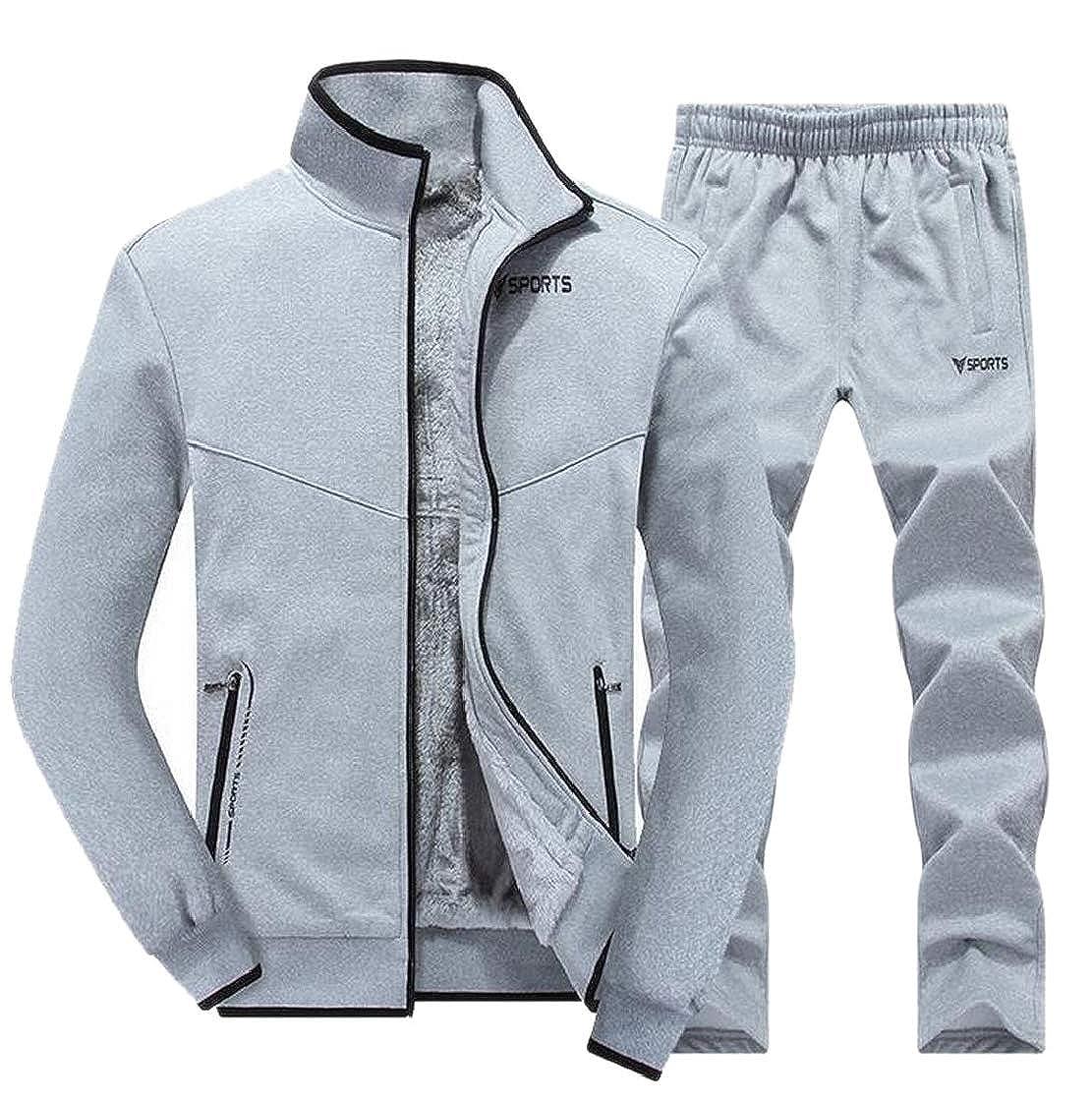 M/&S/&W Mens Activewear Tracksuits Jacket /& Pants Jogging Two Pieces Full Zip Sweatsuit