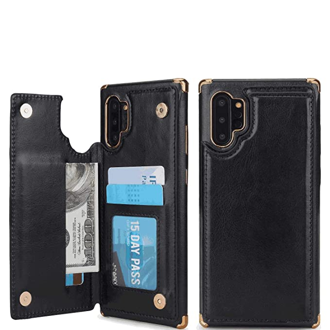 Lilysuper iPhone 11 Pro Flip Case Cover for iPhone 11 Pro Leather Luxury Business Kickstand Cell Phone Cover Card Holders Smartphone Case