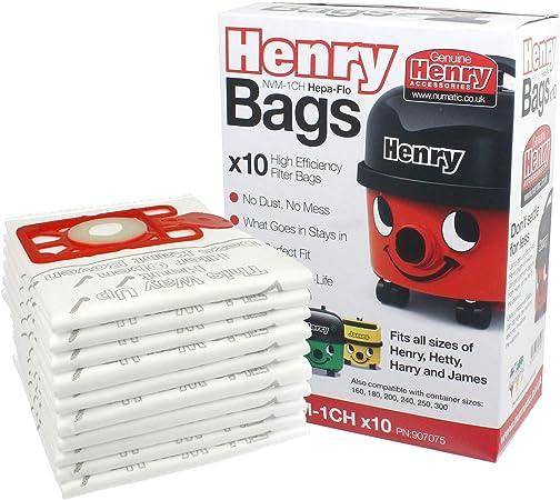 10 x Genuine Numatic Henry Hetty HEPAFLO Vacuum Cleaner Hoover Bags 604015