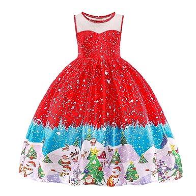 Christmas Eve Dresses.Huanqiue Girls Dress Christmas Eve Xmas Snow Holiday Party Dresses