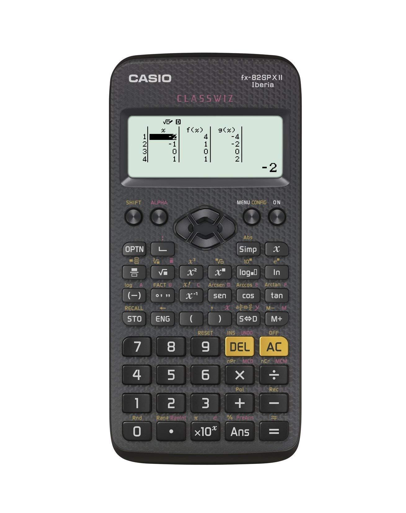 Casio FX-82SPXII Iberia - Calculadora científica (293 funciones, 24 niveles de paréntesis