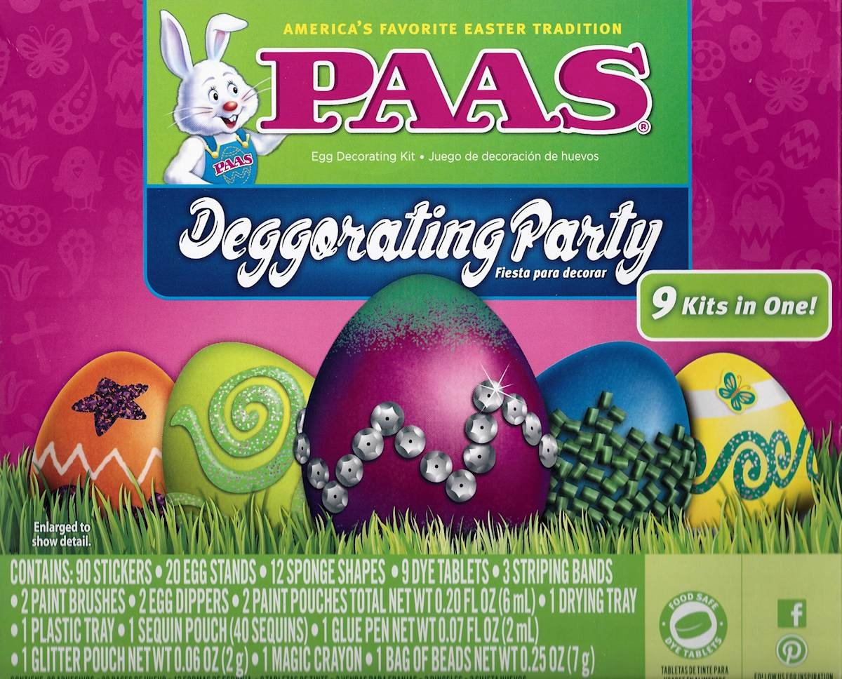 Amazon.com: PAAS-Deggorating-Party-9-kits-in-One Easter-EGG ...