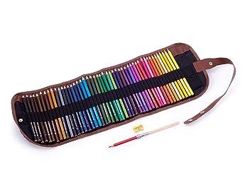 Lápices de colores en estuche enrollable para niños y ...