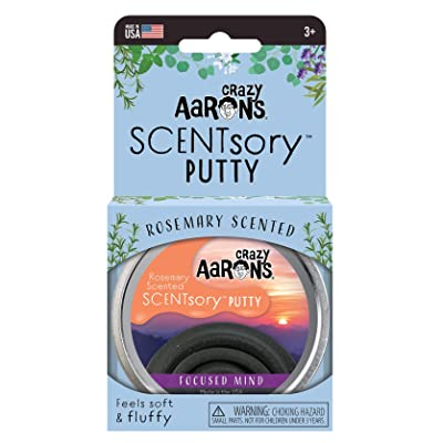 "Crazy Aaron's Scented Thinking Putty 2.75"" Tin – Rosemary Scented Black Putty – SCENTsory Focused Mind – Never Dries Out: Toys & Games"