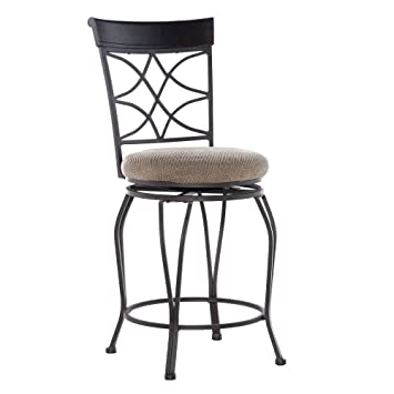Fantastic Linon Curves Swivel Counter Bar Stool 24 Unemploymentrelief Wooden Chair Designs For Living Room Unemploymentrelieforg