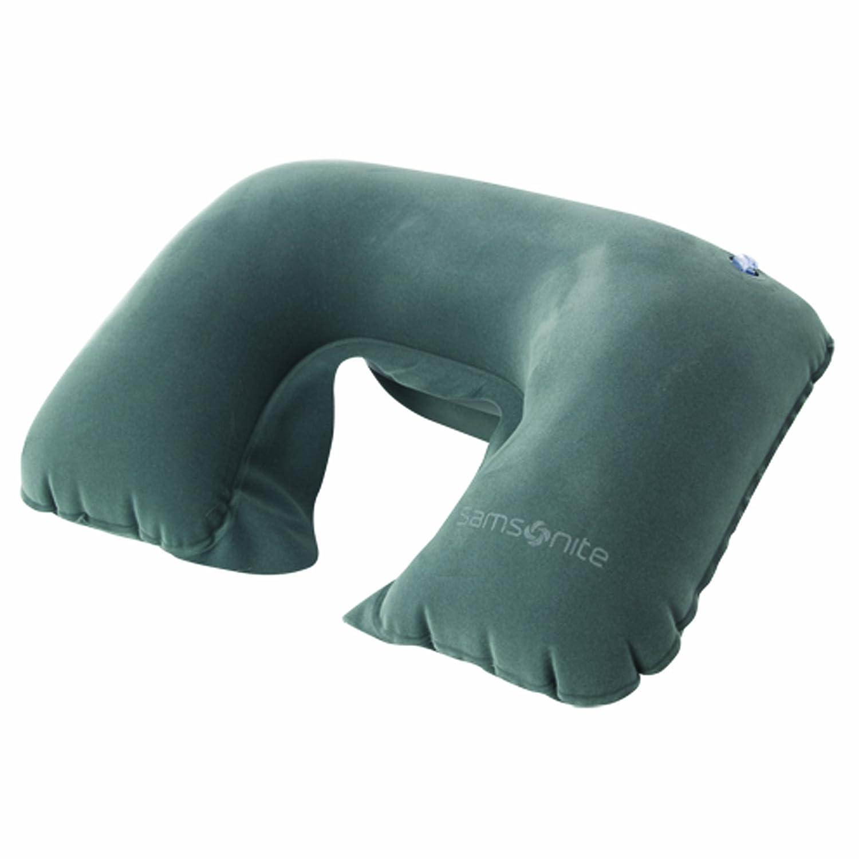 amazon com samsonite double inflatable neck pillow grey clothing