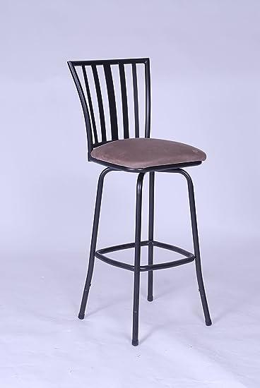 Amazon Com Roundhill Furniture Square Seat Bar Counter Height