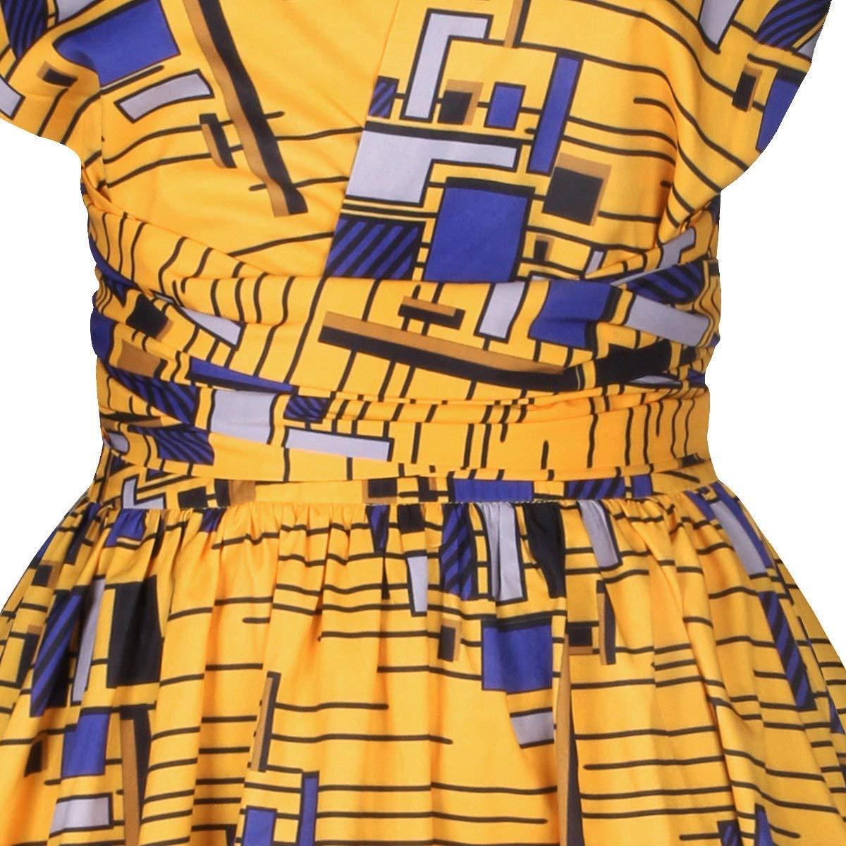 Femmes Robe Africaine Style Ethnique Multi Wear Robe De Tailles Confortables Soir/ée Vintage Robes Courtes Multiway vetement Robe D/Ét/é Bandage /Él/égante Robe De Plage Robe De Cocktail Robe De Soir/ée