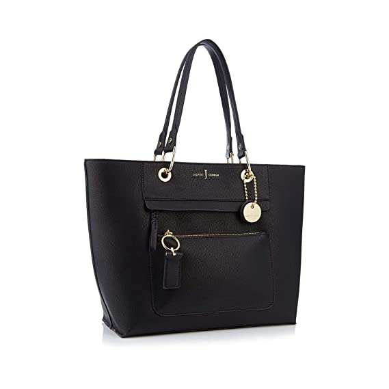 6b99cdce3e45 J By Jasper Conran Womens Black Front Zip Detail Tote Bag  J by Jasper  Conran  Amazon.co.uk  Clothing