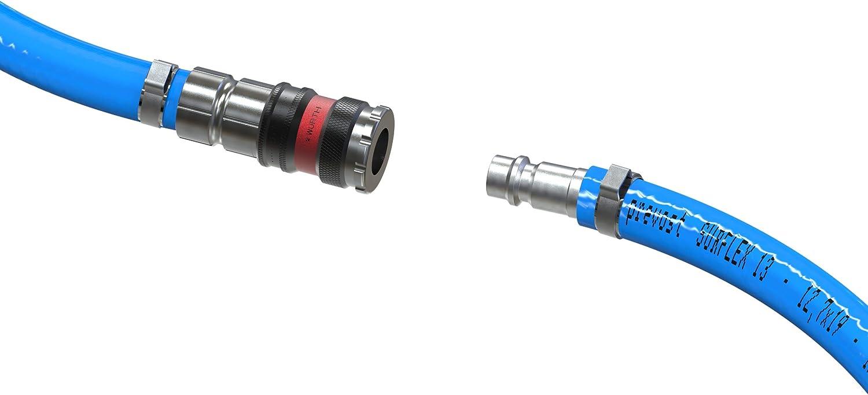 AUPROTEC Sicherheits Druckluftschlauch Set W/ürth PVC-Schlauch Prevost S1 Sicherheits Kupplung 1m Meter, Innen /Ø 13mm