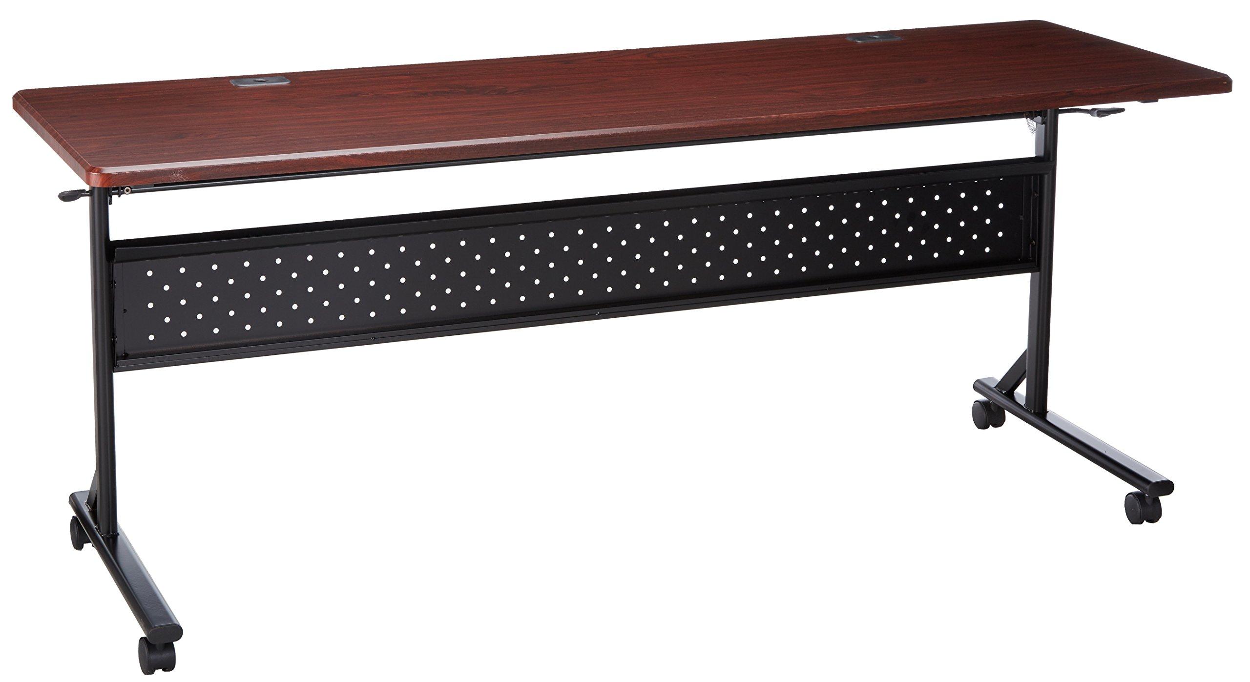 Lorell LLR60670 Flipper Training Tables, 46'' Height X 8'' Width X 8'' Length, Mahogany by Lorell