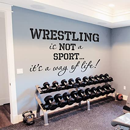 Wall Decals Quotes Wrestling Is Not A Sport Itu0027s A Way Of Life Vinyl  Sticker Gym