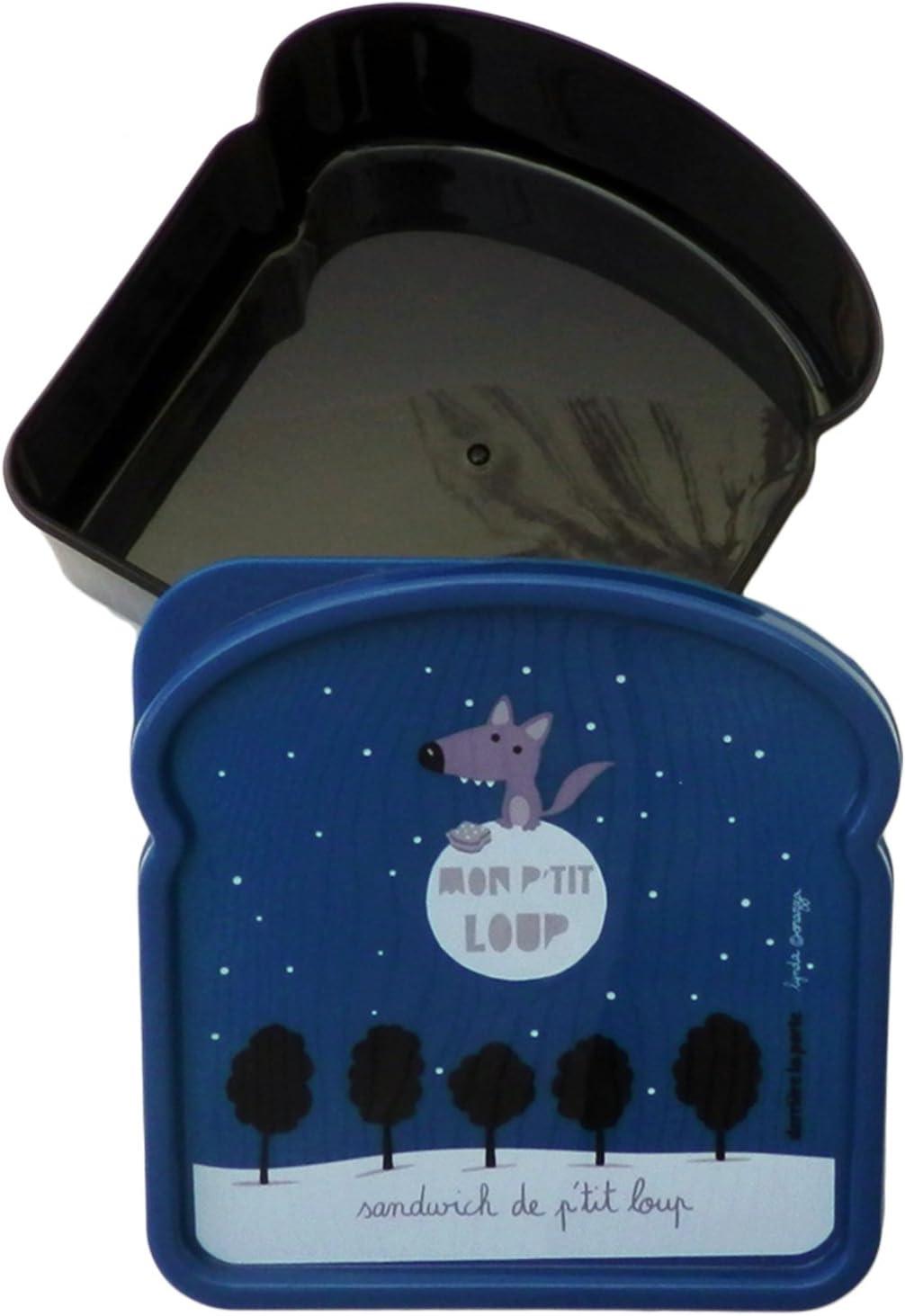Derri/ère La Porte Scatola a forma di toast per bambini e ragazzi decoro di Val/érie Nylin DLP: Mon Petit Loup