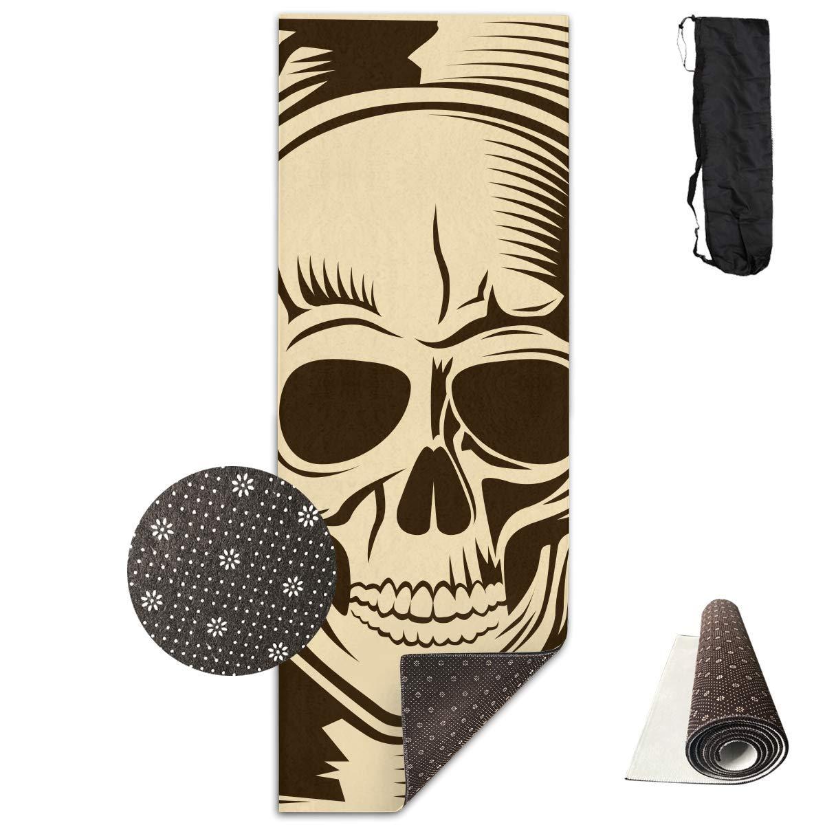 Amazon Com Human Skull Yoga Mat Advanced Yoga Mat Non Slip