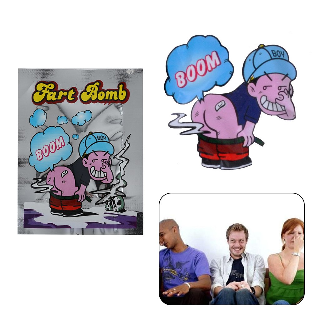 10 pezzi puzzolente Bomba Fart Fool Toy Novità Scherzo Qualcuno puzza che esplode Mini scherzo Pratico Adult Children For Fun Party (Colore: argento) Gugutogo