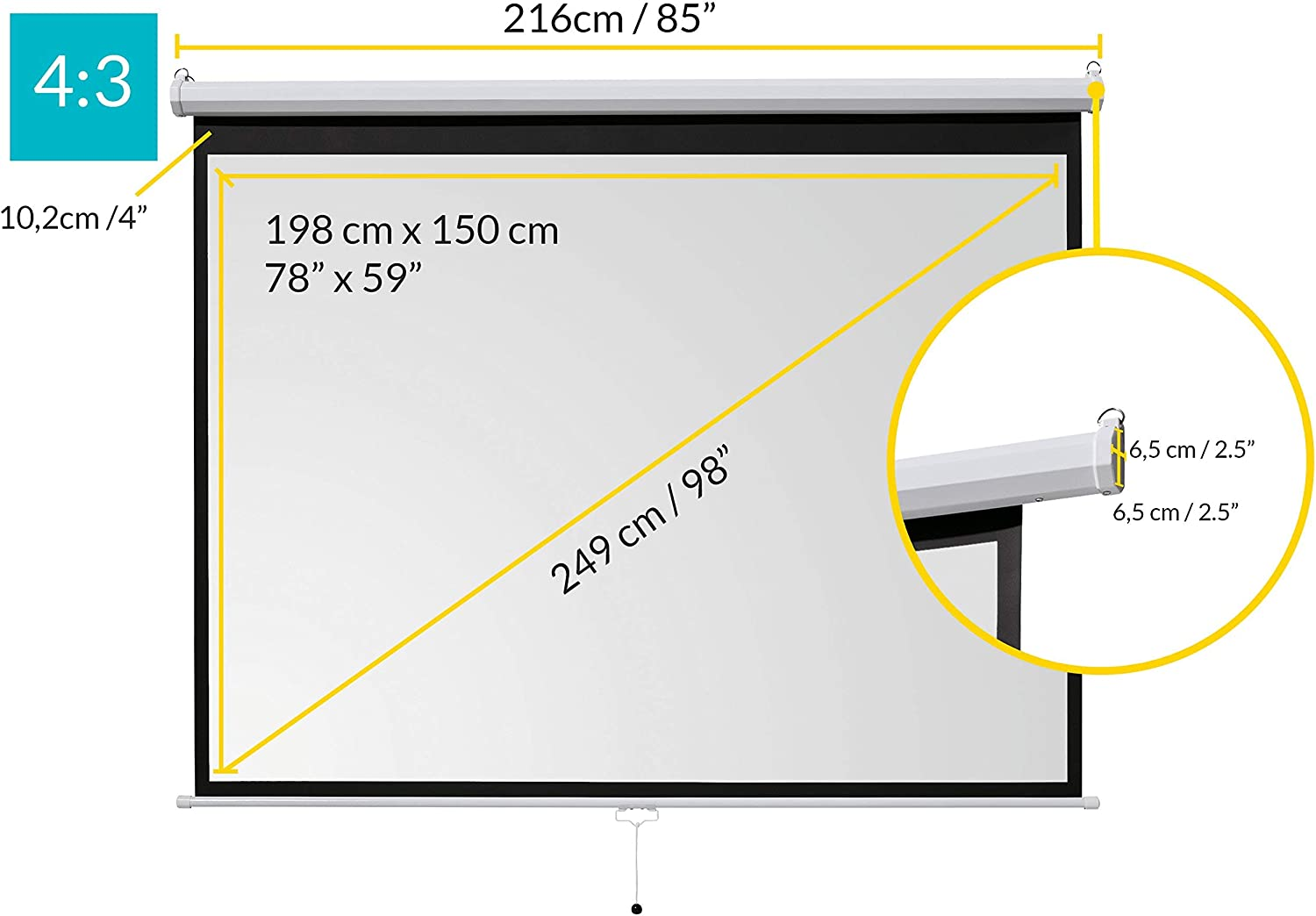 1:1 Easy installation and operation celexon basic manual projector ...