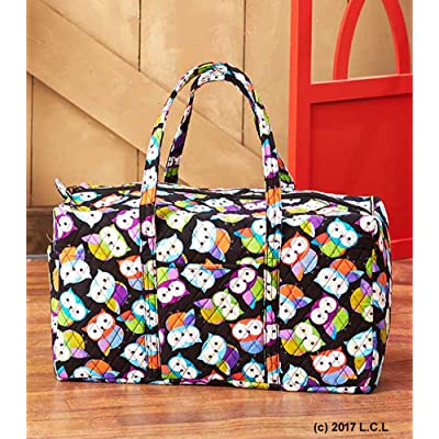 20abdde6af Quilted OWL Oversized Duffle Bag Overnight Large Duffel Luggage Girls  Sleepover good