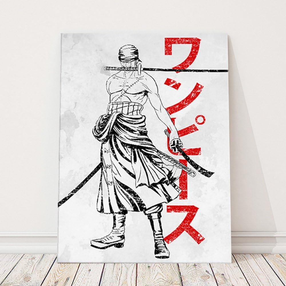 Impression sur Toile D/écoration Murale Image Imprim/ée 40x60 cm Tableau D/éco DDJVigo 1 Partie Feeby Gris Anime Pirate Hunter