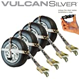 VULCAN Adjustable Loop Auto Tie Downs with Snap