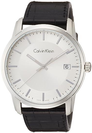 Calvin Klein Reloj Digital para Hombre de Cuarzo con Correa en Cuero K5S311C6: Amazon.es: Relojes